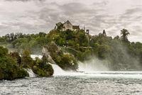 Rhine Falls near Schaffhausen, Neuhausen am Rheinfall, Canton Schaffhausen, Switzerland
