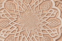 Arab background remanding to Islam culture. Design created using droste effect on a 13th century architectural detail in a mosque.