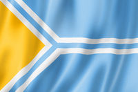 Tuva state - Republic -  flag, Russia