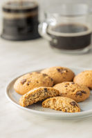 Sweet chocolate cookies. Tasty biscuits.