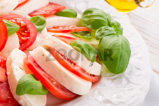 tomato with mozzarella cheese