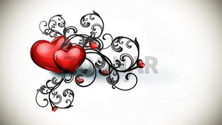 Romantic gothic background