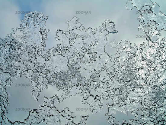 tracery on a frosted window