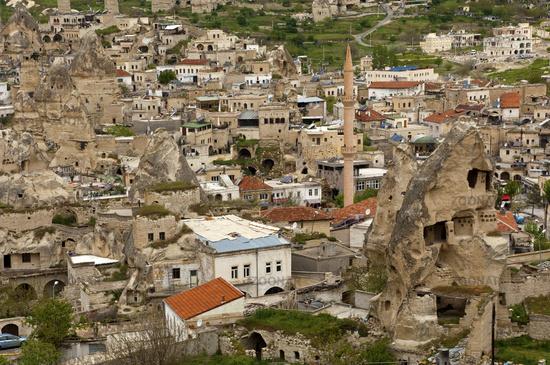 municipality of Goereme amids tuff rock cones