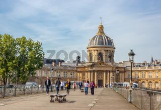 Paris Art Bridge and Mazarine Library
