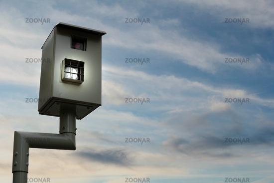 flash box at dusk