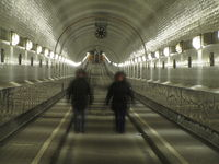 old tunnel under the Elbe river