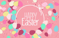 Easter eggs, confetti