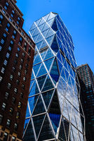 Low angle view of Hearst Tower in New York City