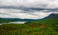 scotland highlands loch tulla red tent