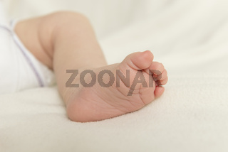 Bein und Fuß eines Babys