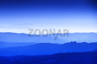 Tuscany Landscape at blue hour