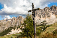 View from Bustac mountain to Cir group near Gardena Pass, South Tyrol