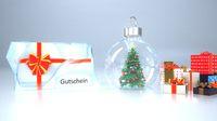 Gutschein Ice Christmas Tree Snow Ball
