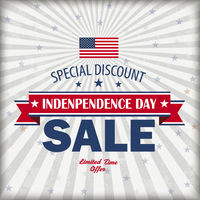 Independence Day Sale Retro Cover