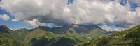 Panorama view to the Seriana valley and Orobie Alps
