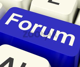 Forum Key For Social Media Community Or Information