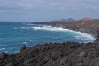 Küste bei Los Hervideros auf Lanzarote