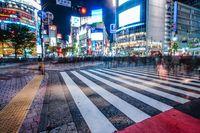 Shibuya scramble intersection of night view