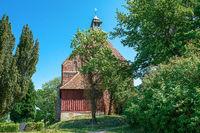 Village church in Gustow on Ruegen island