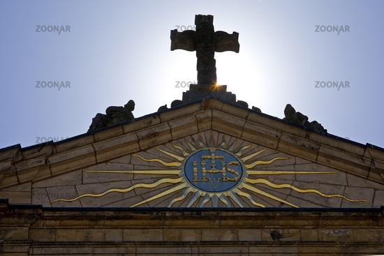 Cross at the market church, detail, Paderborn, North Rhine-Westphalia, Germany, Europe