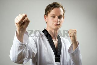 Taekwon-Do double block