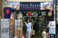 Typical souvenir shop in Porto - Portugal