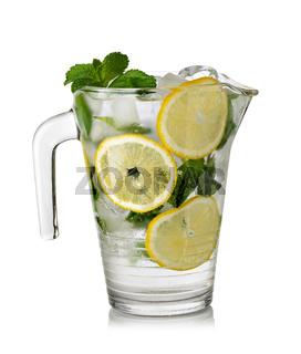 Glass of fresh lemonade