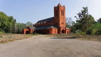 All Saints Garrison Church, Lucknow. Built in 1860. Architecture inspired by Magdalen College, Oxford.