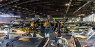Polish Aviation Museum - Main Hangar and Tupolev Tu-2S