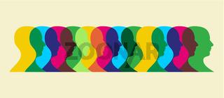 multicolored social interaction