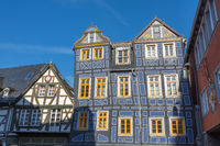 The Leaning House in Idstein, Taunus, Hesse, Germany