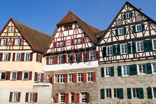Historische Fachwerkhäuser in Schwäbisch Hall, Deutschland