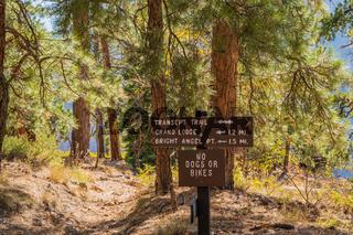 A description board for the trails in Glen Canyon NR, Arizona