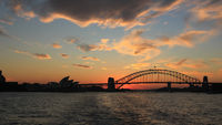 Sydney, 10 April 2016. Sunset scene in Sydney.