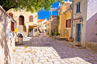 Town of Baska colorful architecture street view