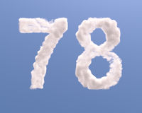 Number 7 and 8 cloud shape
