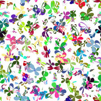 Colorful Flower Texture Isolated on White Background. Seamless Pattern