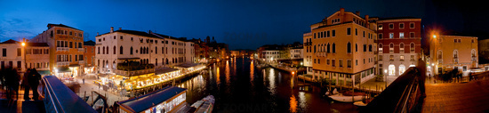 Panorama Venice, view from Ponte degli Scalzi