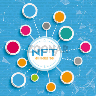 NFT Blue Network Data Infographic
