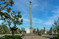 Historical circus square in Putbus on Ruegen island