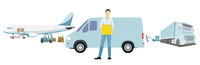 Delivery, delivery logistics, parcel messengers. Suppliers