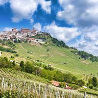 La Morra. Traditional village close to Barolo and Alba, Piedmont Region, Italy.