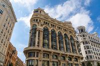 Matesanz building on Gran Via avenue in Madrid