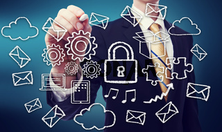 Secured Cloud Computing Concept