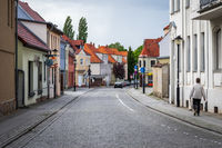 Streets of old town. Juterbog is a historic town in north-eastern Germany,