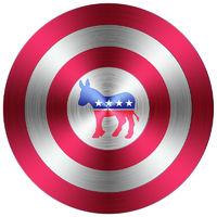 democrats metallic button