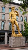 Golden David statue at Fort Nelson Park Louisville - LOUISVILLE. USA - JUNE 14, 2019
