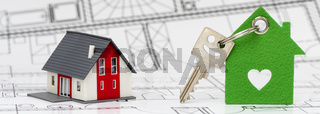 model home and house key