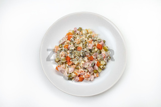 Salad With Meat And Mayonnaise